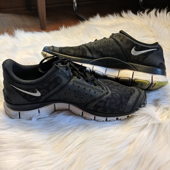 Nike Free 5.0 Black Leopard Tennis ShoesSneakers